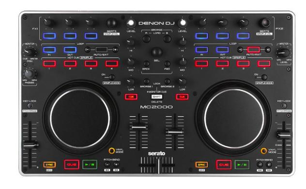 Controlador DJ Com Serato MC-2000 - Denon DJ