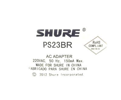 Fonte de Alimentação Shure PS23-BR