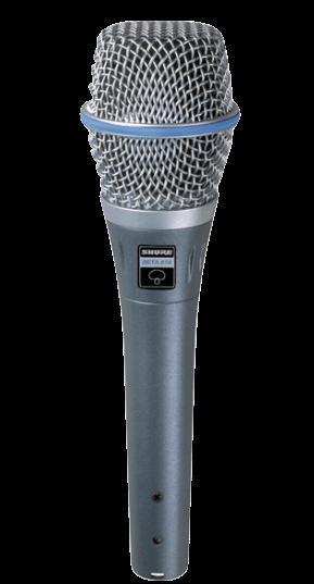 Microfone Condensador Supercardioide Shure BETA 87A