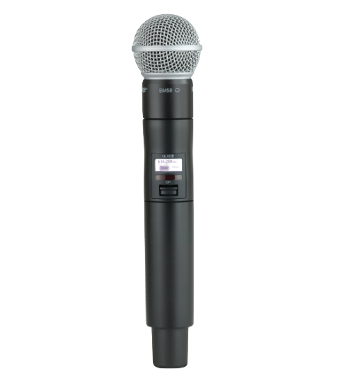 Microfone de Bastão Shure ULXD2 com Cápsula SM58 - FREQ. L50