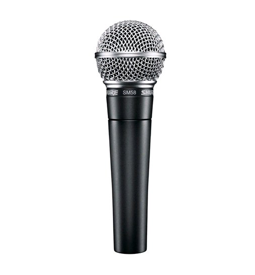 Microfone Dinâmico Cardioide Shure SM58-LC