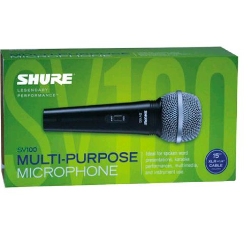 Microfone Dinâmico Cardioide Shure SV100