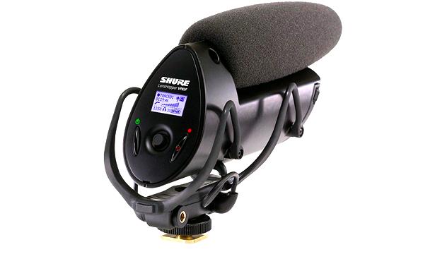 Microfone ShotGun para Câmeras com Entrada SD e Visor LCD Shure VP83F