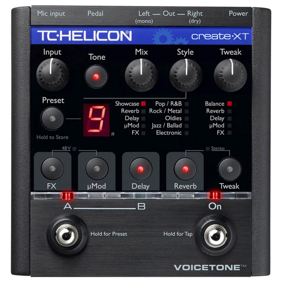 Pedal Voz VoiceTone Create XT - TC Helicon