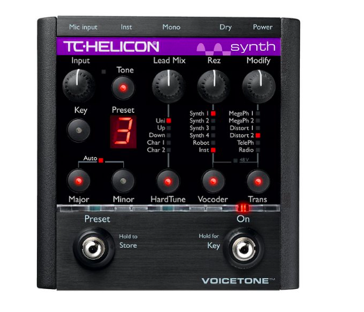 Pedal Voz VoiceTone Synth - TC Helicon