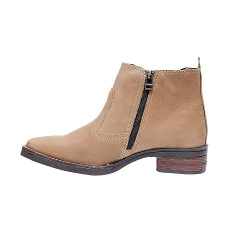 3379787077 Botina Palma Boots Feminina Fóssil Capim Bico Quadrado - Cumpa ...