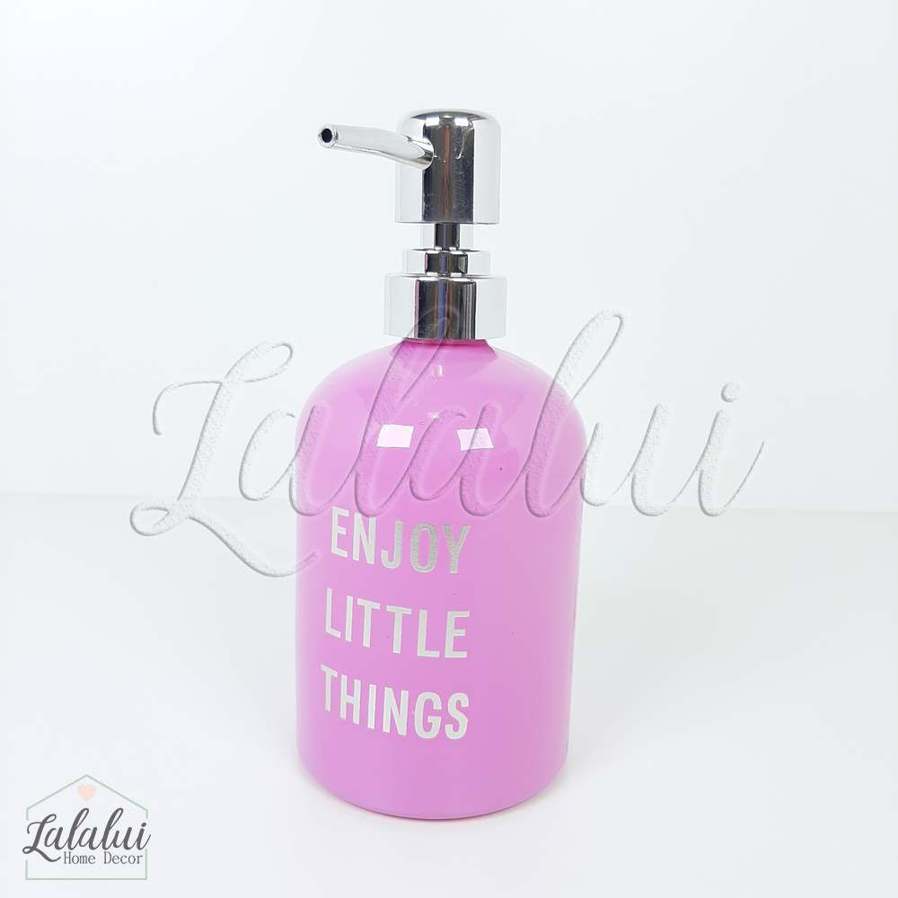 Dispenser | Enjoy Little Things - rosa 8x8x18cm 400mL (LA2123)
