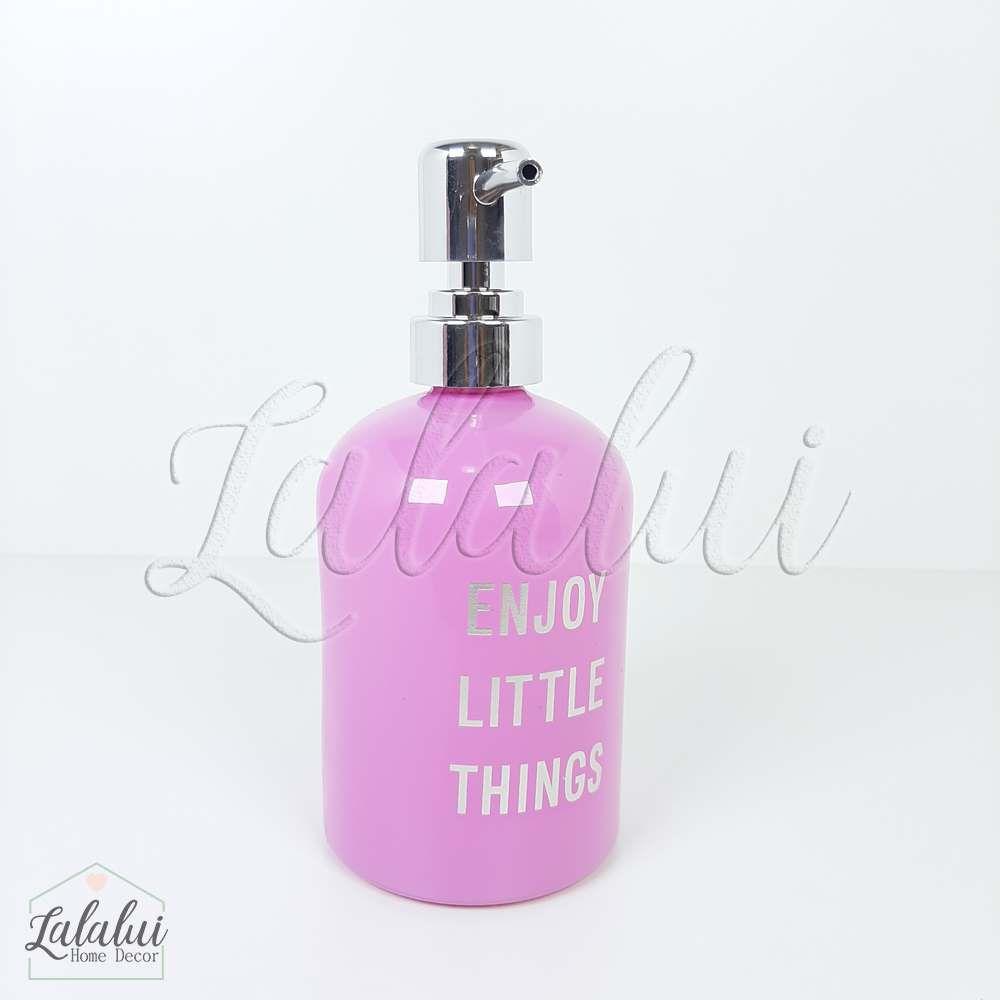 Dispenser | Enjoy Little Things - rosa 8x8x18cm 400mL (LA2123)