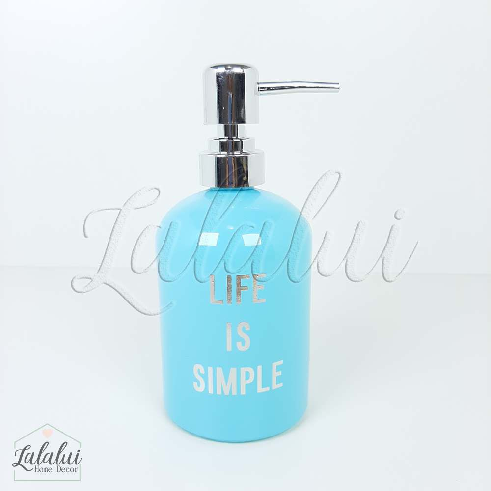 Dispenser | Life is Simple - azul 8x8x18cm 400mL  (LA2121)