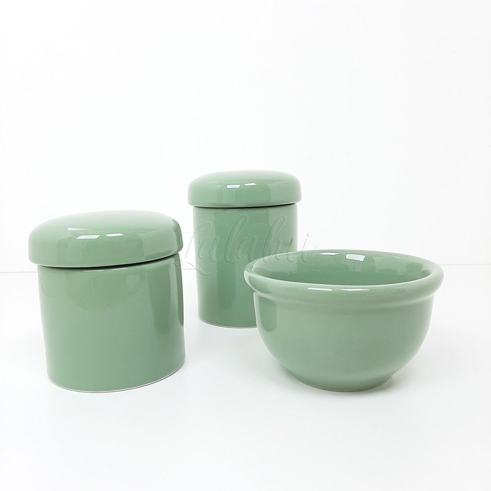 Kit de Potes | Verde Celadon em Porcelana (LA2265)