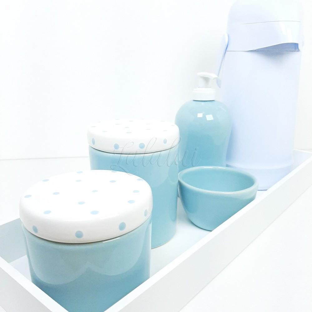 Kit Higiene | Azul Candy com poás (LA0322)