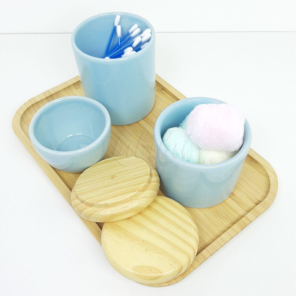 Kit Higiene   Azul Candy e Madeira Natural (LA2209)