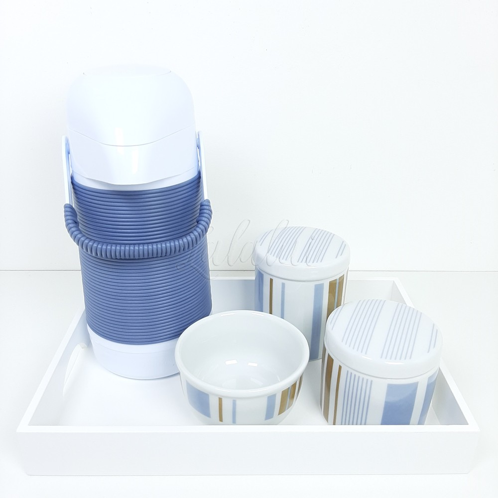 Kit Higiene | Listras Jeans e Marrom LA2289