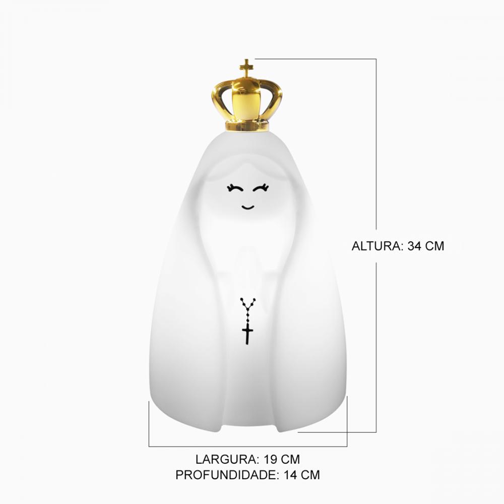 Luminária | Nossa Senhora Com Coroa e fio - cor Natural (LA2091)