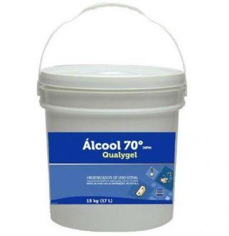 ALCOOL EM GEL ANTISSEPTICO 70 INPM 17L QUALYGEL - QUALYVINIL
