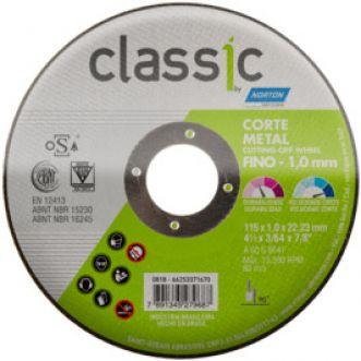 DISCO DE CORTE AR102 CLASSIC PARA ACO E INOX - NORTON