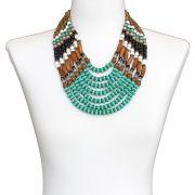 Colar feminino max , resinas e cristais - bijuteria - 6342