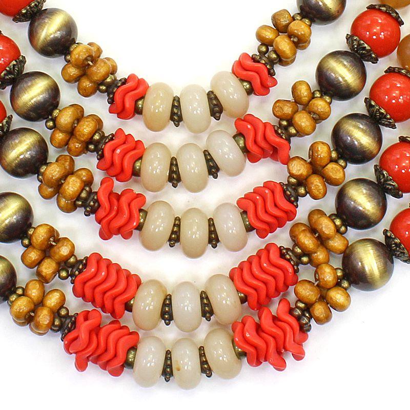 Colar feminino max , bolas e resinas - 5951