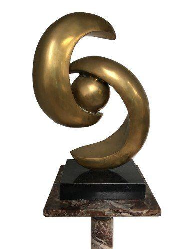 Grande Escultura Em Bronze Abstrata Bea Machado