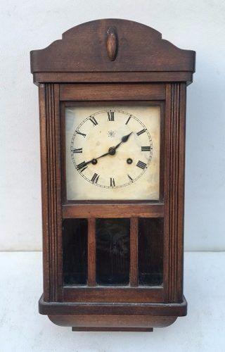 Antigo Relógio De Parede Junghans Funcionando