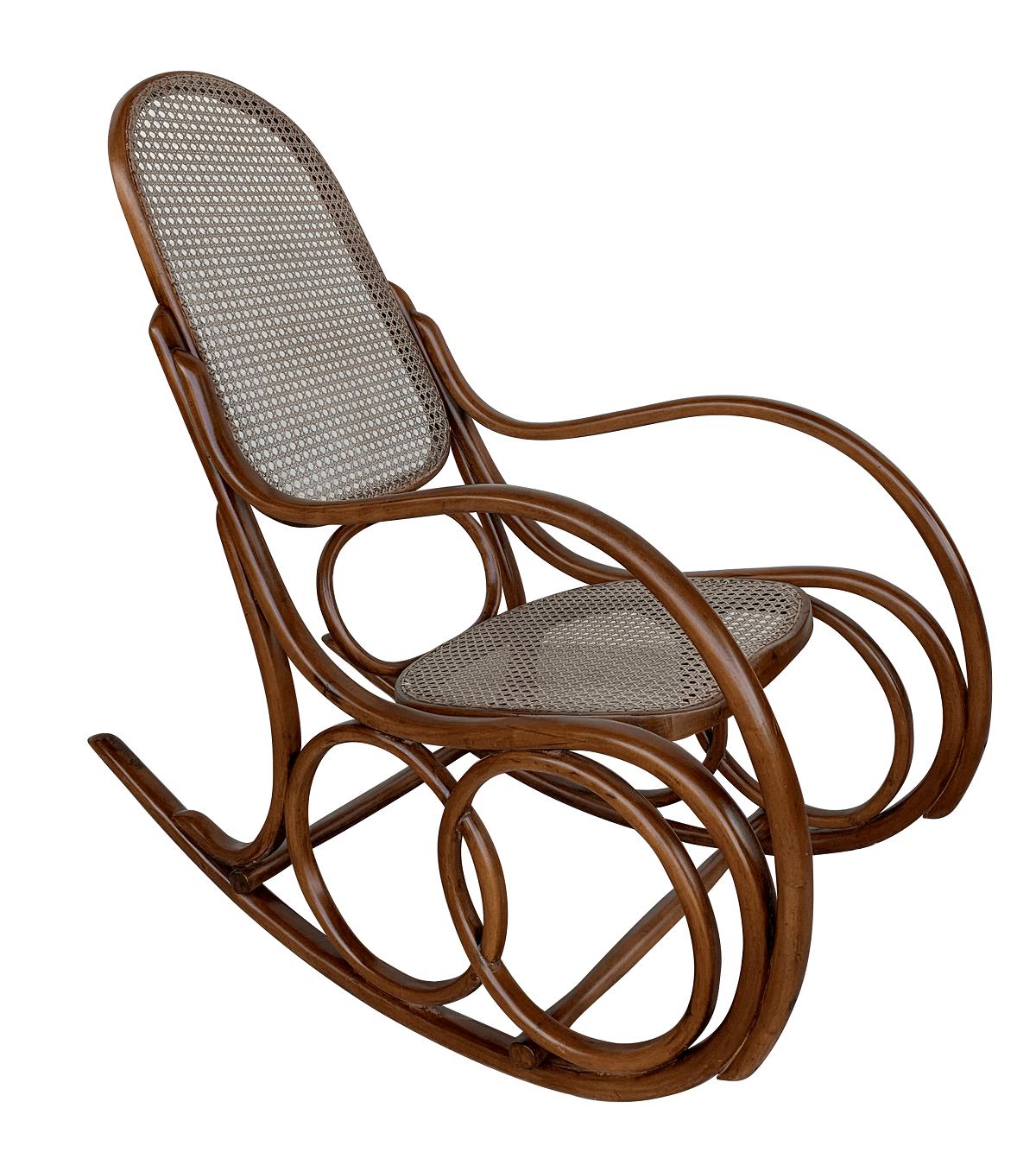 Antiga Cadeira De Balanço Austriaca Thonet