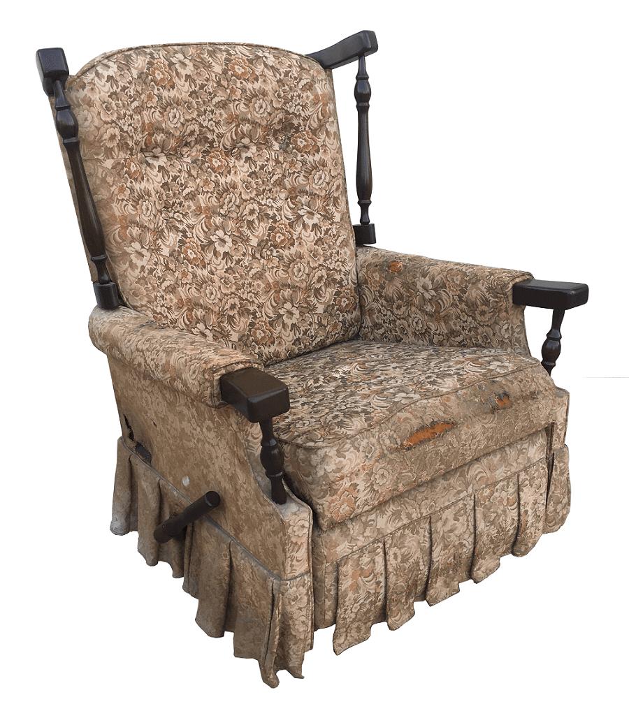 Antiga Cadeira De Balanço Poltrona Papai Reclinavel