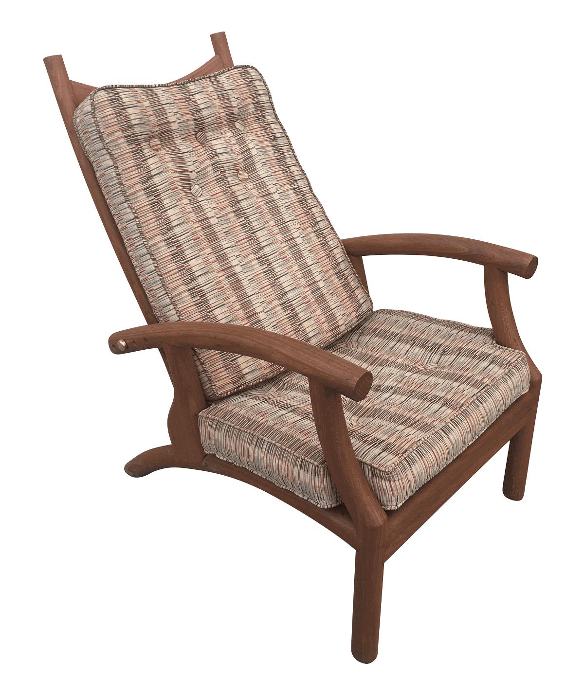 Antiga Cadeira Reclinavel Em Freijo Belo Design