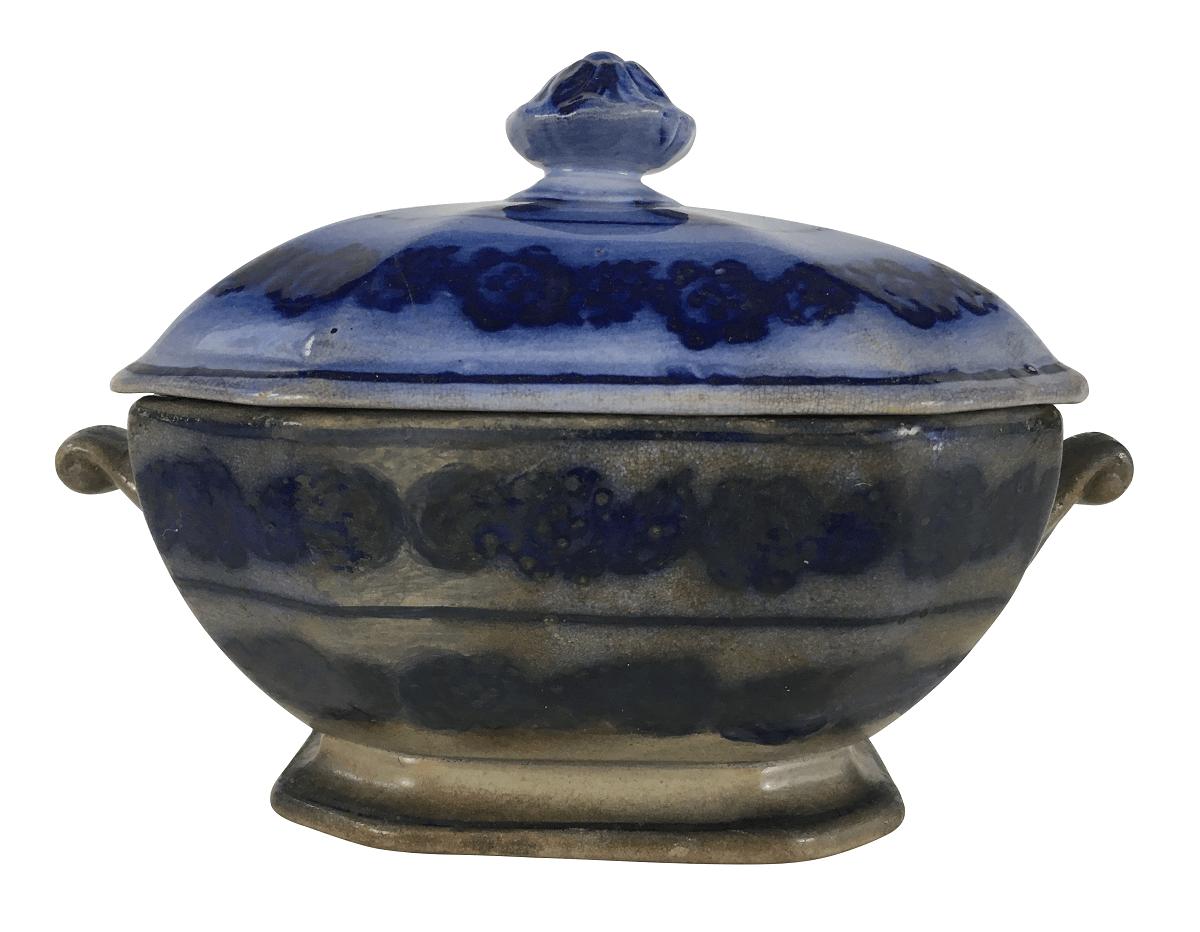 Antiga Compoteira Em Porcelana Borrao 14cm