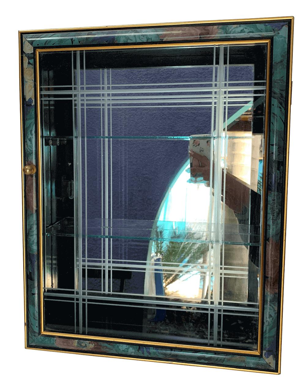 Antiga Cristaleira De Parede Porta Miniatura Bibelo