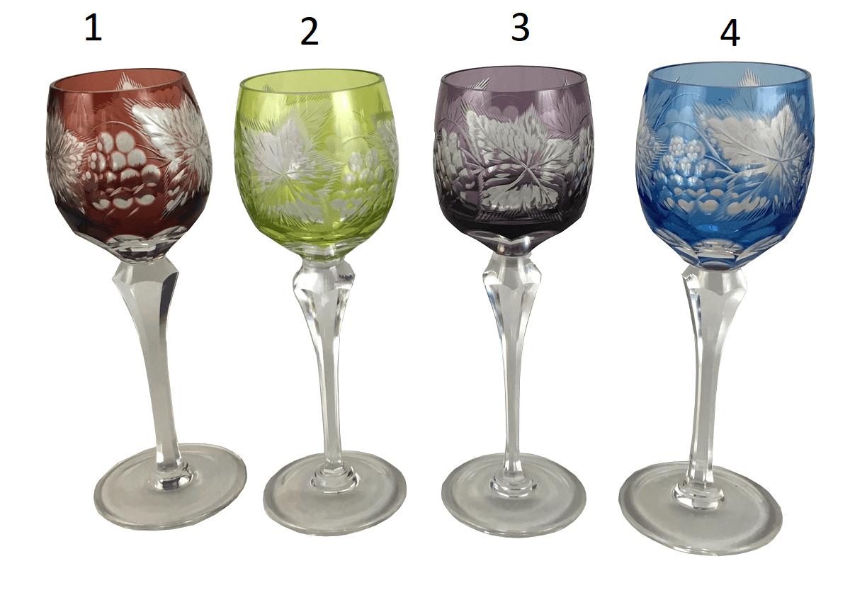 Antiga Taça Cristal Europeu Lapidacao Uva (Unidade)