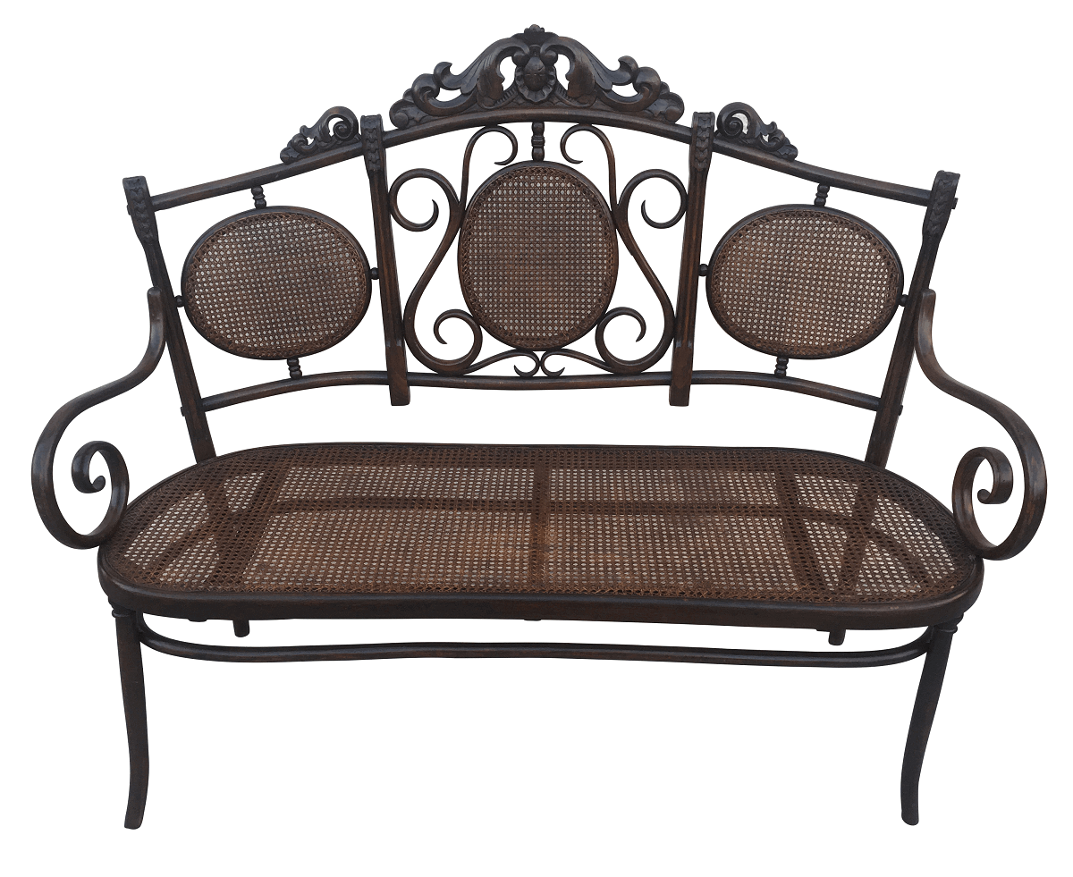 Antigo Canape Sofa Austriaco Thonet Palhinha Belissimo