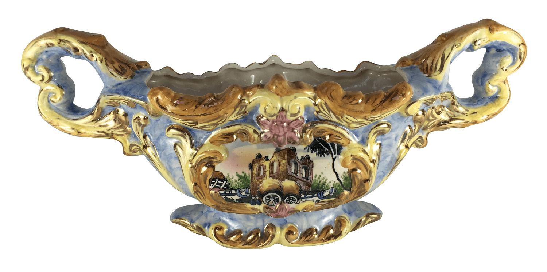 Antigo Centro De Mesa Floreira Ceramica