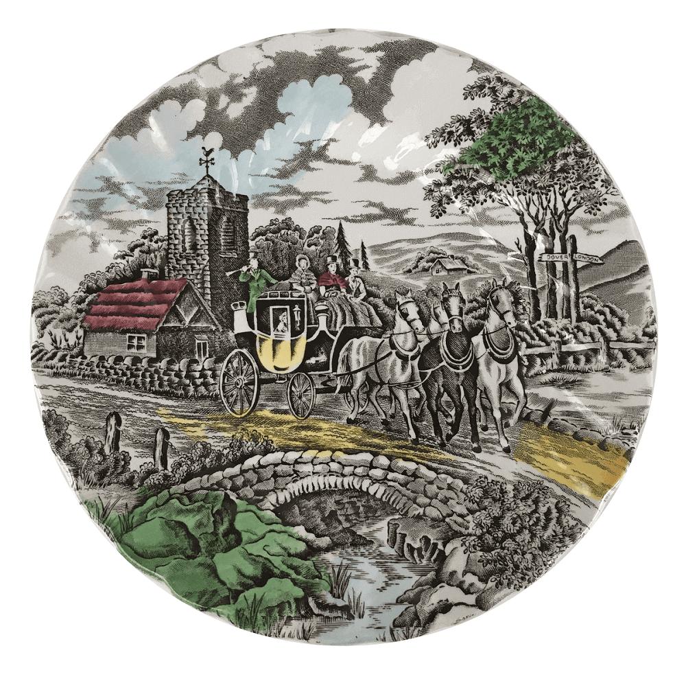 Antigo Prato Sobremesa Em Porcelana Inglesa Fazendinha Myott
