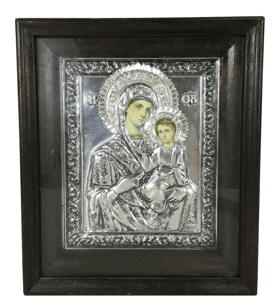 Arte Sacra Antigo Icone Russo Em Metal