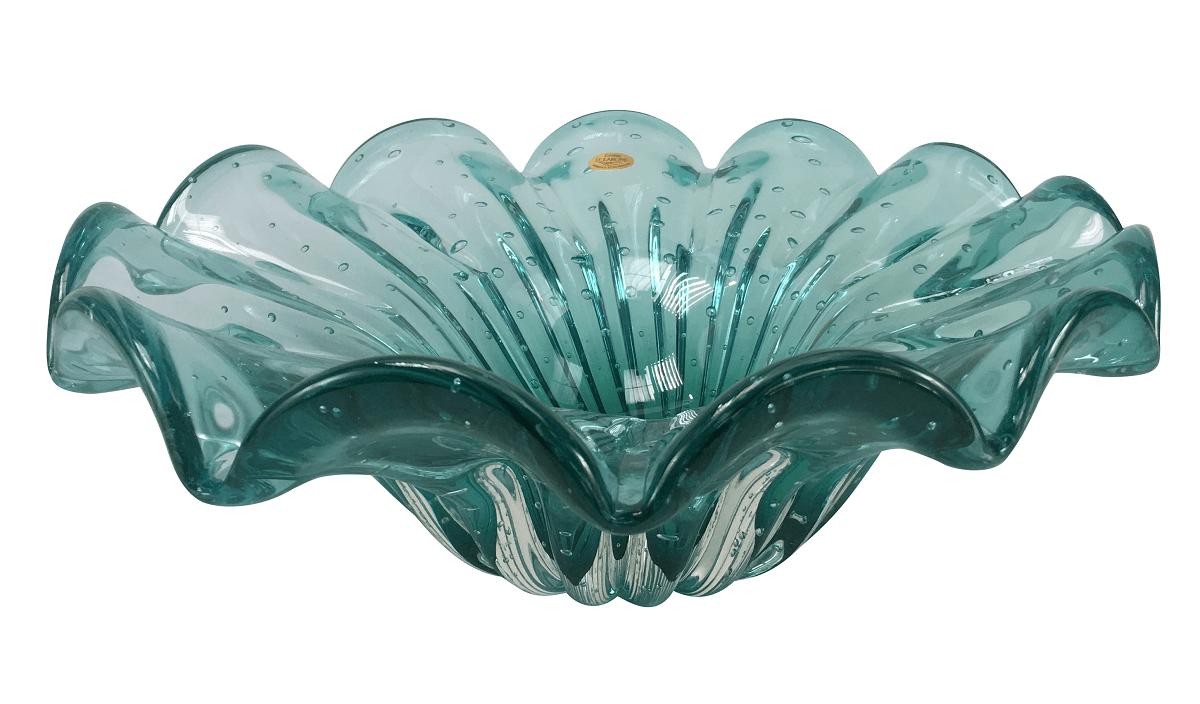Centro De Mesa Murano Cristal D' Labone Esmeralda