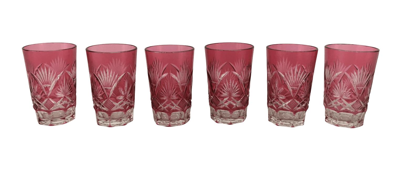 Cristal Baccarat Antigo Calices Rosa