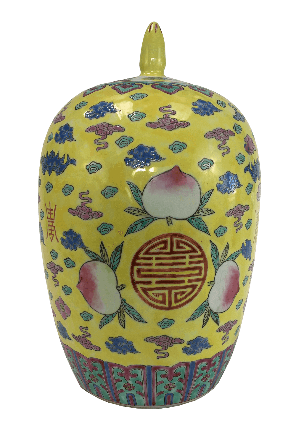 Grande Potiche Porcelana Chinesa Policromada