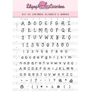 Kit de Carimbos - Alfabeto e Número