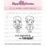 Kit de Carimbos - Coração Aquecido