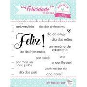 Kit de Carimbos - Felicidade