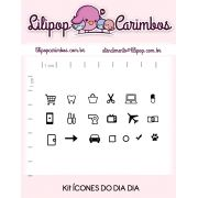 Kit de Carimbos - Ícones do Dia Dia