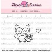 Kit de Carimbos - Mãe Coruja