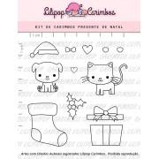 Kit de Carimbos - Presente de Natal