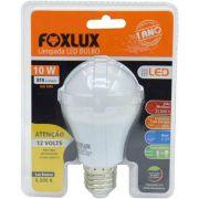 Lâmpada Led Bulbo 12v 10w E27 Foxlux