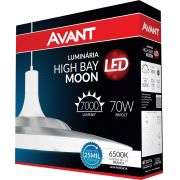 Luminária Led High Bay Moon 70w Branca Avant