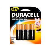 Pilha Alcalina Pequena AA Cartela 4 Unidades Duracell