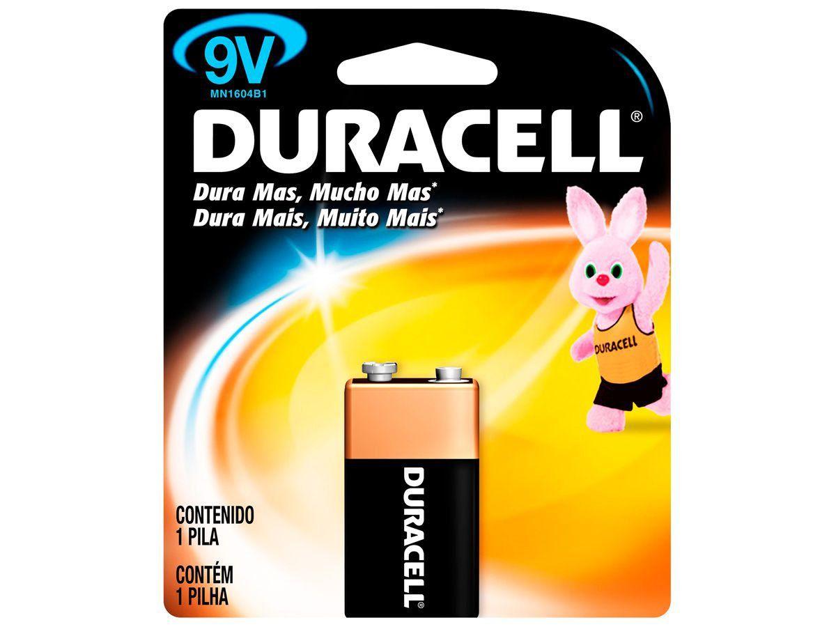 Bateria Alcalina Duracell 9V Original