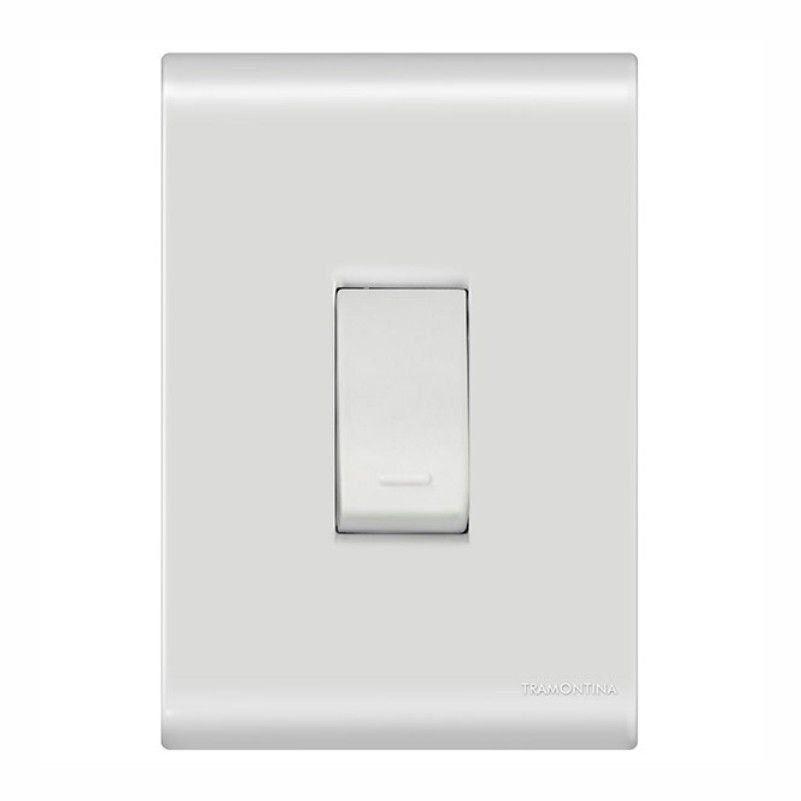 Interruptor Branco Simples Vertical Com Placa Liz Tramontina