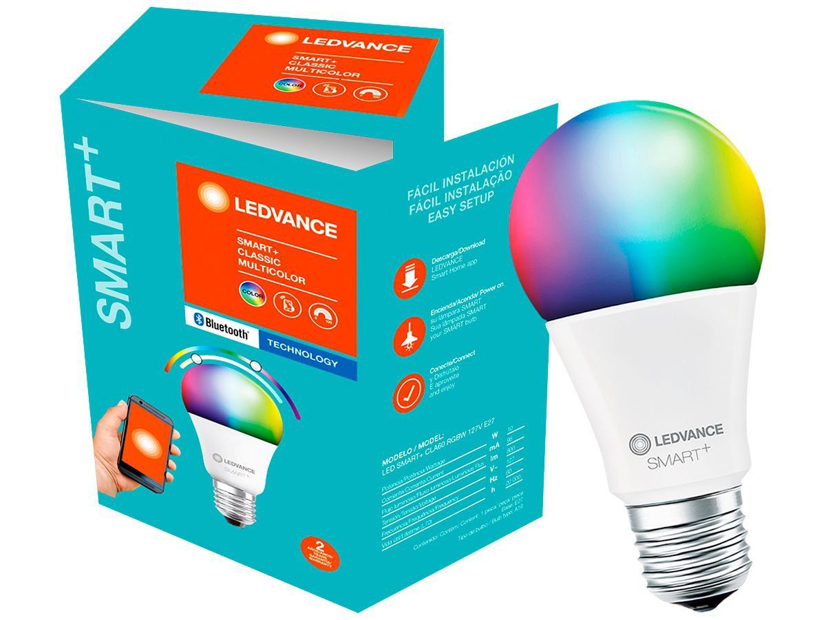 Lâmpada Bluetooth Led Smart 10w Rgbw 127v Osram Ledvance