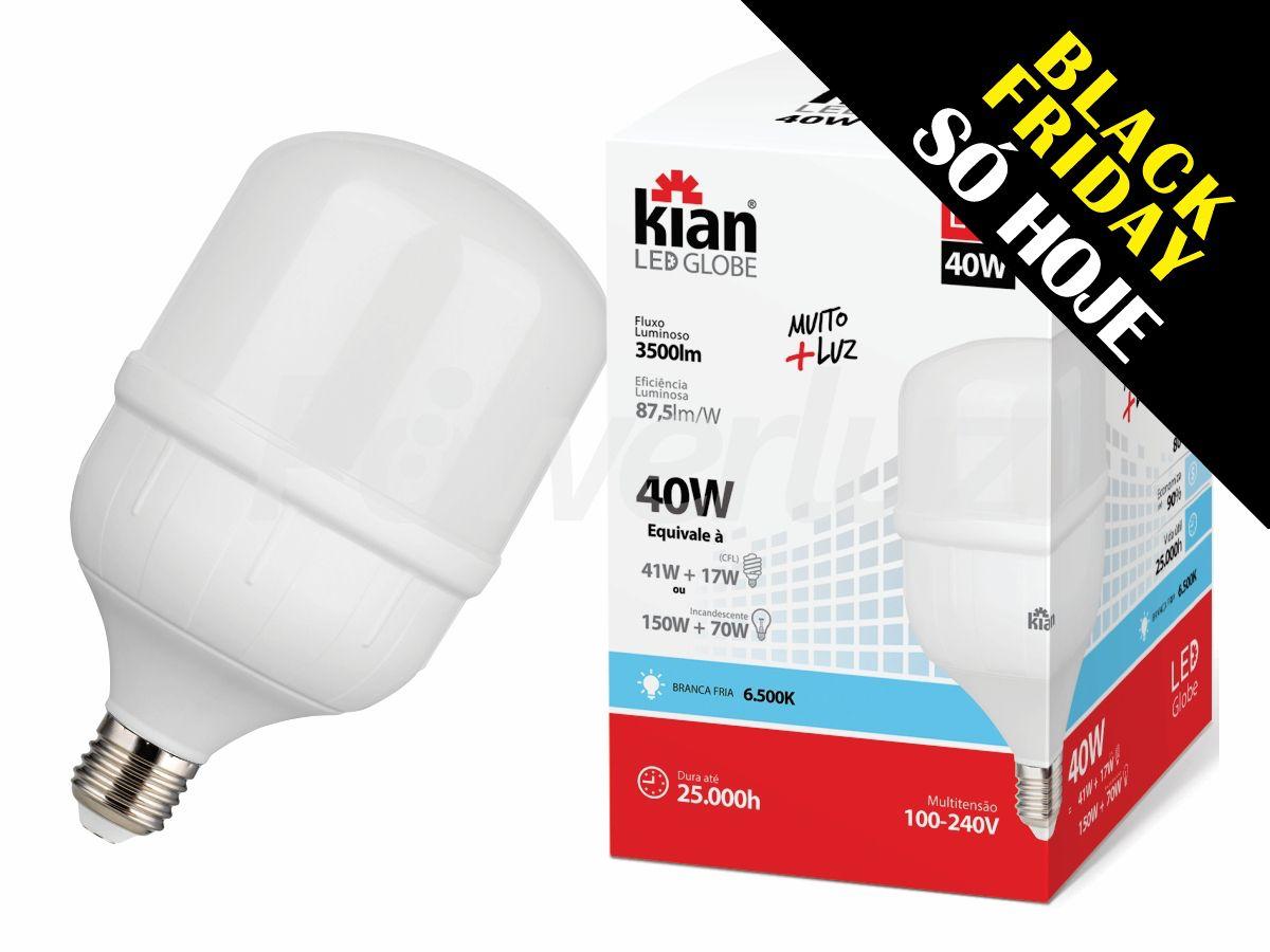 Lâmpada Led 40W Alta Potência Branca E27 Kian